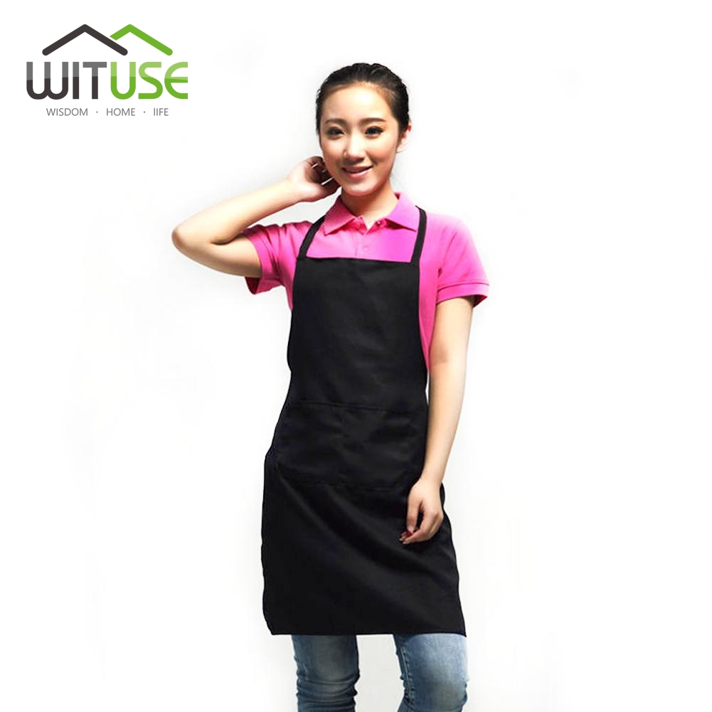 WITUSE 2017 Factory Price PVC Waterproof Aprons Adjustable Sleeveless Cooking Work Aprons Kitchen Apron Schort Chef Apron(China)