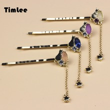 Timlee H075 Free shipping Set Auger Meteor Cat Hair Clips Hair Pins Girls Lovely Hair Accessary Wholesale .