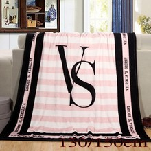 Hot Sale Kintting Blankets Pink VS Secret Blanket Manta Coral Fleece Blanket Sofa/Bed/Plane Travel Plaids Towel Swaddle Sleeper(China)