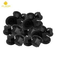 FLEOR 50pcs Old Style Plastic Black J Bass Guitar Amp Knobs Big Tone Control Knobs
