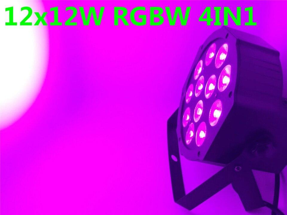 10Pcs CREE RGBW 12x12 W LED Flat SlimPar Quad Luce 4in1 LED DJ Wash Stage Light dmx luce della lampada 4/8 channes<br>