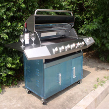seven burners(six +side burner) outdoor gas bbq grill, big stove  strong pizza oven