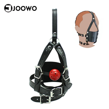 Buy Fetish Head Harness Oral Fixation Slave Mask Ball Mouth Gag Bondage Restraints Sex Toys Couples Adult Games