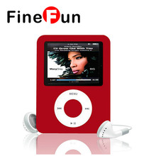 "FineFun MP3 long Standby Slim 8GB 16GB 1.8"" LCD Media Video Radio FM mp3 Player Free Shipping"