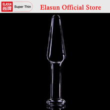 Buy Slim Backyard G-Spot Prostate Stimulating Pyrex Glass Anal Plug Crystal Dildo Butt Plug Sex Toys Adult Beads Anus Product