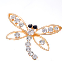 Min. order 9 usd (can mix) Fashion Vintage Dragonfly Brooch Crystal Rhinestone Cheap Brooch Pins