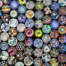 12mm Mixed Pattern 10pcs/lot Round Glass Dome Cabochon Jewelry Necklace Pendant Brooch Bracelet Earrings Glass Accessories