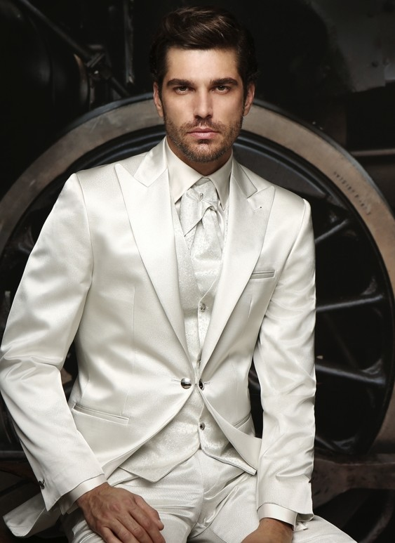 Latest Coat Pant Designs Ivory/White Wedding Suits For Men Tailored Made Groom Tuxedo Formal Party Men Suit 3 Pieces Ternos Suit