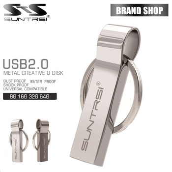 Suntrsi usb flash drive portachiavi in metallo pen drive 16 gb metallo Chiavetta USB 32 GB Impermeabile Pendrive USB Flash Reale Capacità USB 2.0