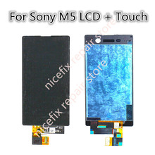For Sony Xperia M5 LCD Display With Touch Screen Digitizer Assembly E5603 E5606 E5653 For SONY M5 LCD Replacement Parts