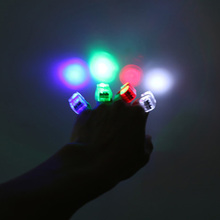 10pcs Fidget toy LED Finger Light Laser Finger Lamp Lights Flash Glow Luminous Rings Kid Birthday Gifts Toys Random delivery