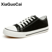 XiaGuoCai Spring Autumn Classic Women Canvas Shoes Breathable Women Casual Shoes Fashion Lace Flats Footwear Female X104