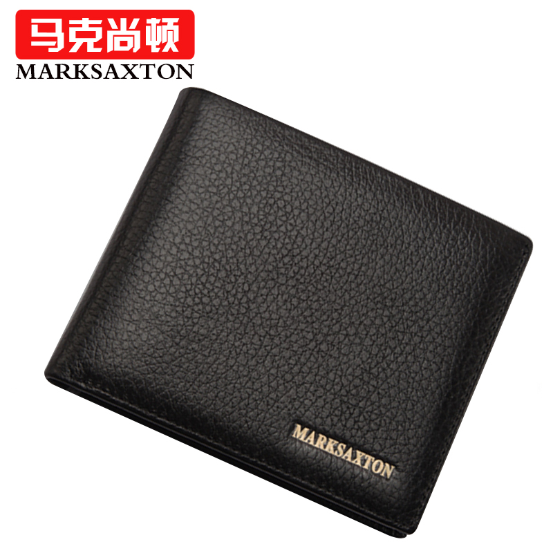 MARK SAXTON Famous Brand 100% Natural Genuine leather wallets Business Short Standard Wallets Classic design Horizontal purses <br><br>Aliexpress