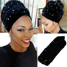 Fashion African headwrap and scarf,Colored beads soft African headtie gele, african turban gele, women headtie,for women.HQT11