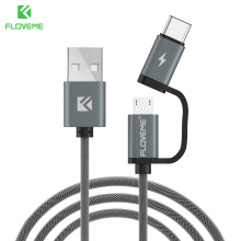FLOVEME USB Cable QC 3.0 Micro Type C Fast Charging 2in1 Type-C Cables Samsung S8 S7 Huawei P10 Meizu Pro 7 Phone - Floveme Franchised Store store