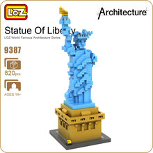 LOZ Statue Of Liberty Diamond Blocks Architecture Statue Model Building Kits City Street Creator Forge World New York Toys 9387(China)