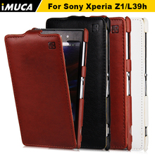 Buy iMUCA Case Sony Xperia Z1 C6903 Case Flip Leather Phone Cases Protective Back Cover Sony Xperia Z1 L39h C6902 C6906 for $5.99 in AliExpress store
