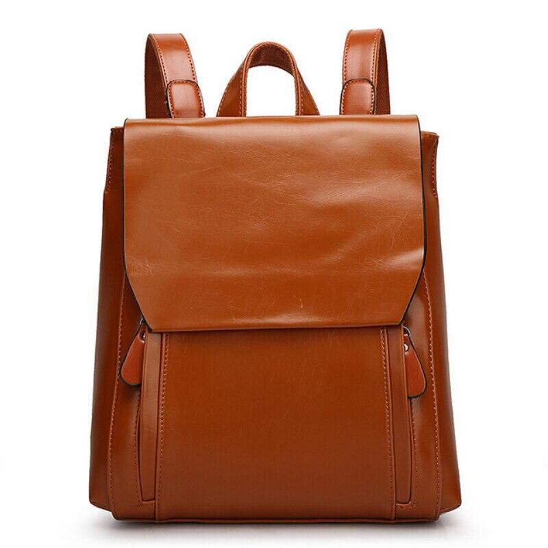 Women Genuine Leather Backpack Mochilas Femininas Fashion Korean School Bag For Girls Student Bookbag Travel Bag Backpacks<br>