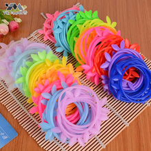 YouMap 1pc Candy Color Silicone Disposable Rabbit Ear Crown Rubber Band Neno Women And Children Hair Assessories A12R13C