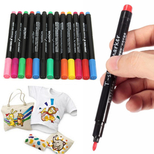 13pcs Fabric Marker Pens Mayitr Permanent Paint Marking Pens Multicolor Patchwork Crafts For DIY Textile Clothes T-Shirt Shoes
