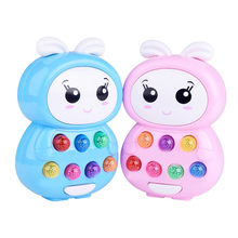 1 Pc Lovely Plastic Electric Cartoon Light Music Playing Hamster Story Machine Children Early Educational Baby Toys Funny Games(China)