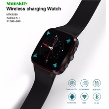 "X5 Bluetooth Smart Watch 1.54"" Supports SIM Card Reminder Calls for Android 3G GPS WiFi Camera Wireless charging Fitness Tracker"