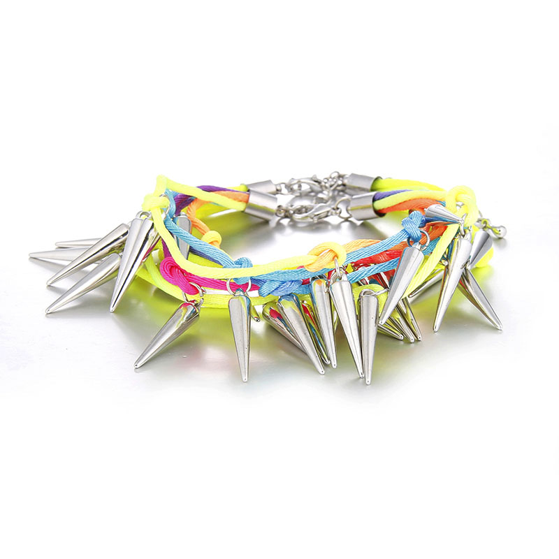 Punk Spikes Bangle Bracelet