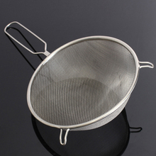 Mayitr 1pcs Stainless Steel Sieve Colander Strainer Mesh Wire Flour Handheld Screen Mesh Flour Sieve Kitchen Pastry Baking Tools