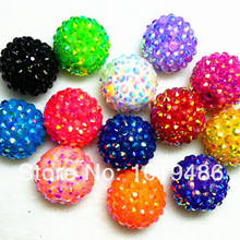20MM Mixed Color 100pcs   lot Chunky AB Resin Rhinestone Beads 705ab1fa8121