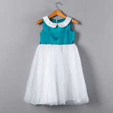 Kids Princess Patch Baby Girl 1 2 3 4 5 6 7 Years Old Children Clothes Dresses Tutu Fashion Summer Preppy Style Girl Green Dress