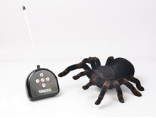 New Four-channel Remote Control Robot Simulation Tarantula Black Widow Spider Boy Electric Toys(China)