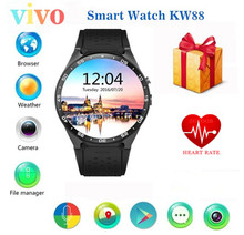 2017 VIVO kw88 Android 5.1 Smart Watch 512MB/4GB Bluetooth 4.0 WIFI 3G Smartwatch Phone Wristwatch Support Google Voice GPS Map(China)