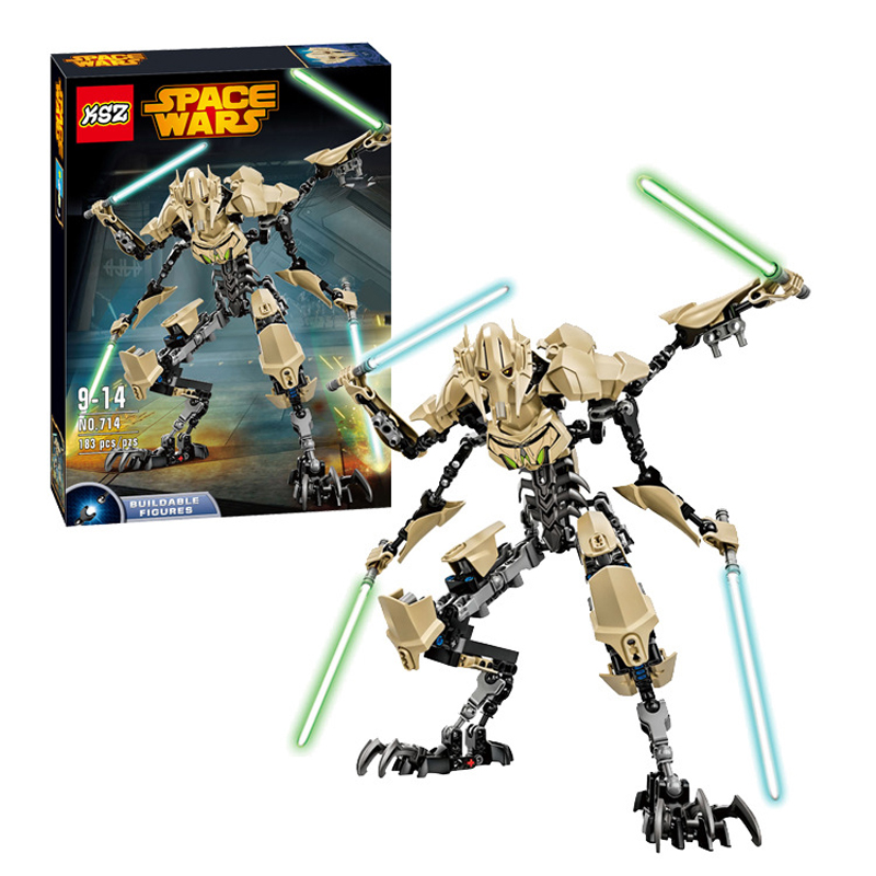 183PCS Star Wars 7 General Grievous With Lightsaber Storm Trooper w/gun Figure Toys Building Blocks Set Compatible With Legoe<br><br>Aliexpress