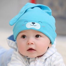 glittery sweet Cute Baby Hat Autumn Cartoon Newborn Caps Baby Beanie Girls Boys Toddlers Cap Cotton Sleep Cap Kids Headwear Hats(China)