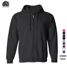 Hot Sale Men's Hooded Casual Brand Hoodies Clothing Fleece Zip Up with Hood Mens Winter Thickened Warm Coat Male XS-2XL Outwear