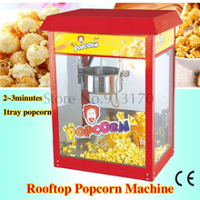 Rooftop Popcorn Maker Easy Operation Popcorn Machine Red Color 220V Commercial Corn Popper(China)