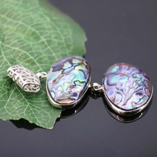 L007 New marine natural 2 row color shell abalone shell pendant,Fit fashion female necklace DIY making wholesale(China)
