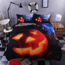 Happy Halloween Bedding Set for Kids 3 or 4 pcs Funny Gift 3D Print Bedlclothes Soft Duvet Cover Sheet Twin Full Queen King
