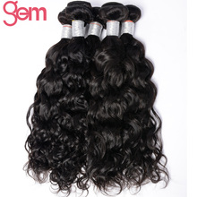 Malaysian Water Wave Remy Hair Extensions Gem Beauty Hair Products Can Be dyed & Bleach 100% Human Hair Weave Bundle Free Ship