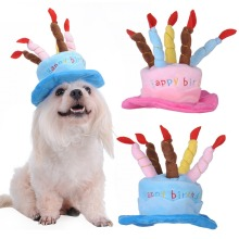 Caps For Dogs Pet Cat Dog Birthday Caps Hat with Cake Candles Design Birthday Party Costume Headwear Accessory Goods For Dogs