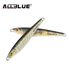 ALLBLUE Metal Jigging Spoon 35g 3D Print Laser Artificial Bait Boat Fishing Jig Lures Super Hard Lead Fish Fishing Lures