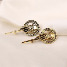 new 2016 Movie Jewelry Brooch Vintage Punk Hand Of The King Pin For Men And Women Bijoux(China)