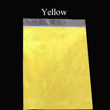 5 Yellow colorful glitter, Pearl powder shiny metal sheets, 50gram,flower decoration,Nail decoration,free shipping(China)