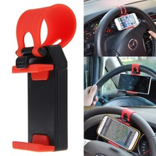 Bags & Panniers Car Steering Wheel Bike Clip Mount Holder pour Telephone cellulaire GPS