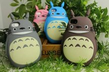 NEW 3D Japan Fashion rubber cute Cartoon Animals Totoro Protective soft silicone case cover For Iphone 5 5G 5S