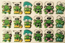 Cute Frog Transfer food chocolate chocolate transfer paper transfer sheet birthday cake baking mold