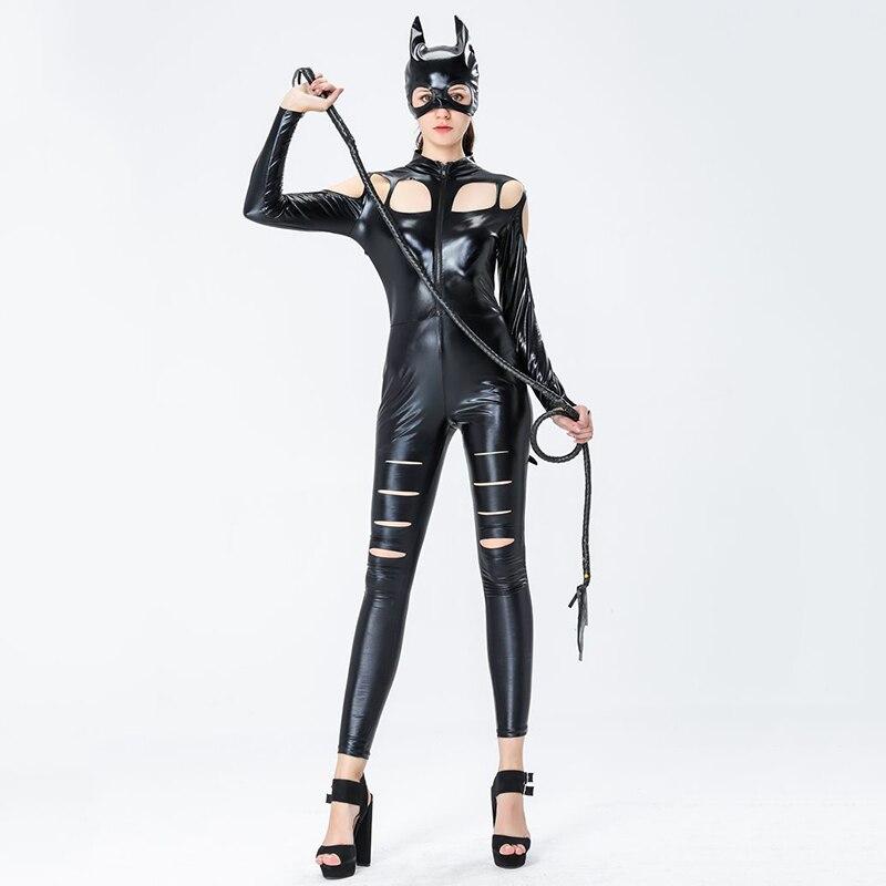 CAT Mezzo Viso Maschera Lattice Costume Bambini Adulti Nero