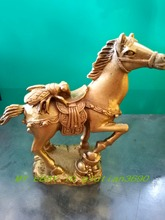 Antique bronze China Bronze sculpture of antique crafts copper Horses and fly Statue