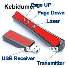 USB Wireless RF 2.4G Remote Control Presentation Presenter Laser Pointer PowerPoint Slide PPT Teach Pen 3mW Lecture Speech(China)