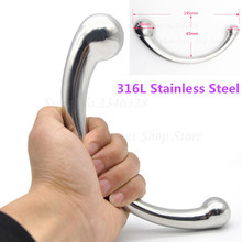 316L Stainless Steel G-Spot Wand Massage Stick Pure Metal Penis P-Spot Stimulation Anal Plug Dildo Sex Product For Women Men Gay(China)